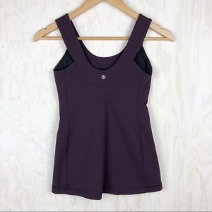 Lululemon Scoop Back Tank in Black Cherry 4